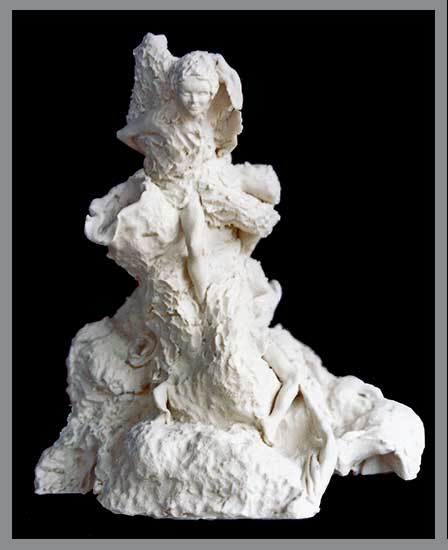 Tree Devas Porcelain Sculpture by Jacquelyn E Lane