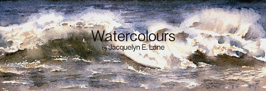 Breaking Waves watercolour by Jacquelyn E Lane