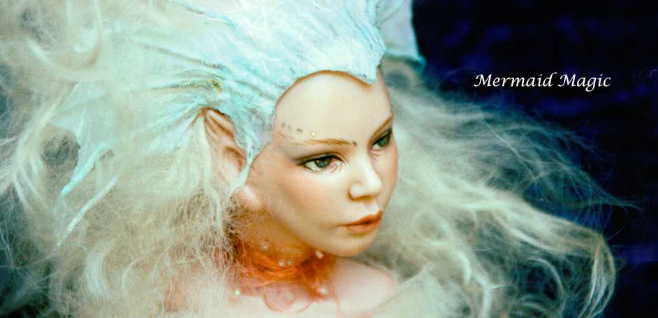 Mermaid Fantasy Art Doll by Debbie Pointon
