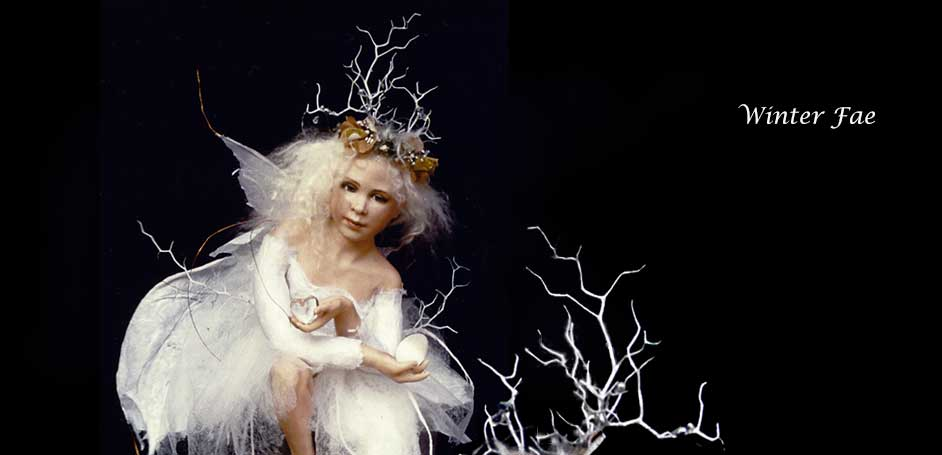Winter Fae Fantasy Art Doll by Debbie Pointon