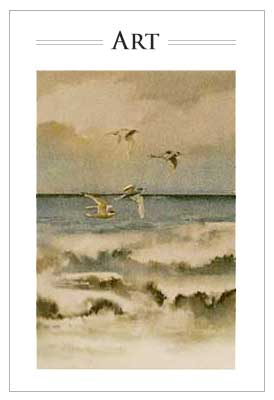 Seascape Watercolour-Jacquelyn E Lane
