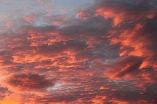February Sunset New Zealand